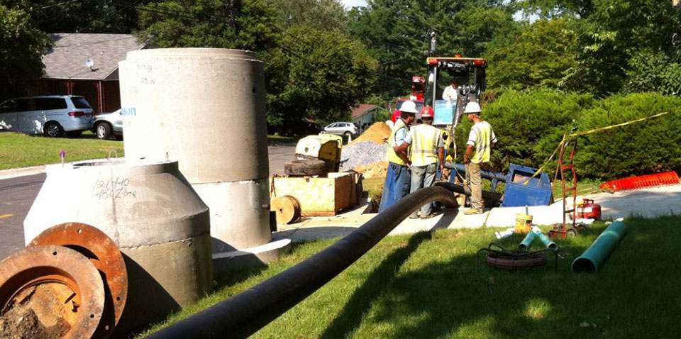 Pipeshark Installing New Municipal Sewer