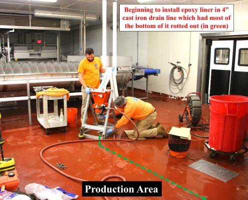 Epoxy Liner Cast Iron Drain Pennsylvania