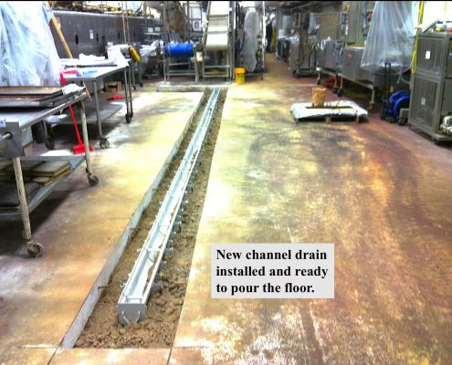Channel Drain Installation Pipe Shark Pennsylvania