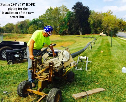 HDPE Piping Installation Sewer Line Pennsylvania
